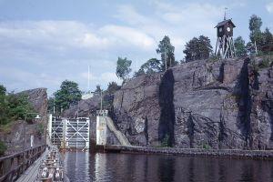 Sluss i Göta Kanal Trollhättan