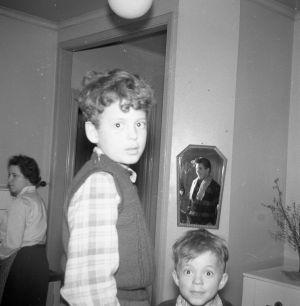 Jag, lillebror och mamma